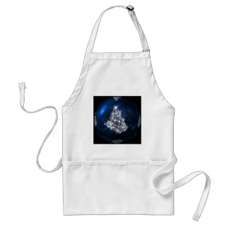 christmas tree blue ball star standard apron