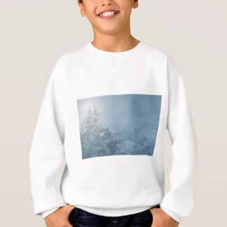 Christmas tree blue snowing sweatshirt