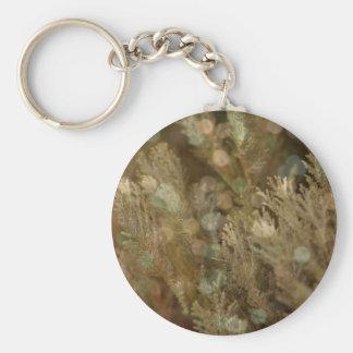 Christmas tree bokeh basic round button keychain