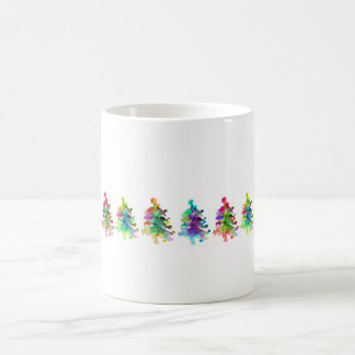 Christmas tree border mug. coffee mug