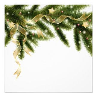 Christmas tree branch Invitation