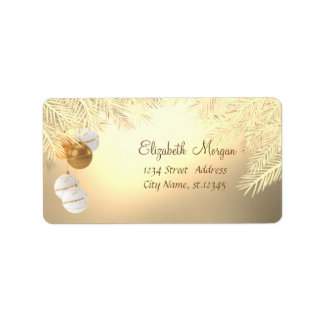 Christmas Tree Branches ,Christmas Balls Label