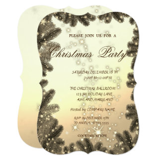 Christmas Tree Branches,Corporate Christmas Party Card