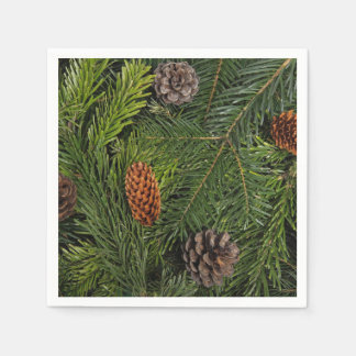Christmas Tree Branches Disposable Napkins