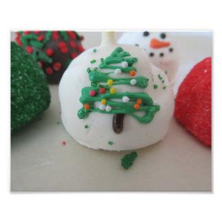 Christmas Tree Cake Pop Photo Art