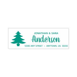 Christmas Tree | Calligraphy Return Address Self-inking Stamp