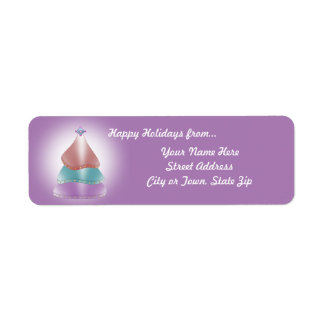 Christmas Tree Candy Color Glow Return Address Label
