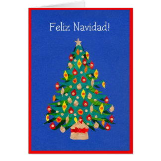 Christmas Tree Card, Spanish Card