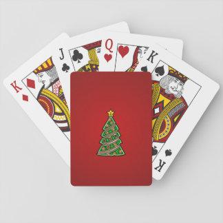 Christmas tree cartoon playing cards