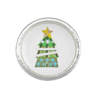 Christmas Tree Charm Ring