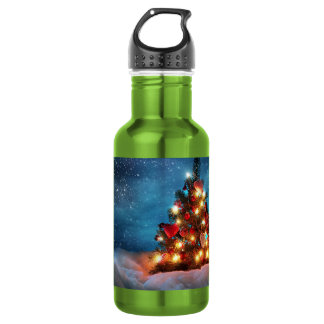 Christmas tree - Christmas decorations -Snowflakes 532 Ml Water Bottle