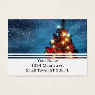 Christmas tree - Christmas decorations -Snowflakes Business Card