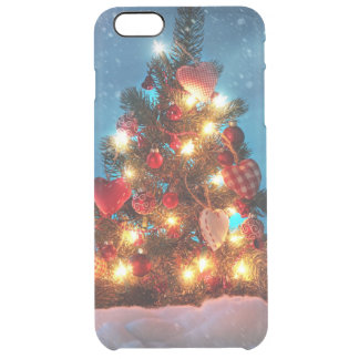 Christmas tree - Christmas decorations -Snowflakes Clear iPhone 6 Plus Case