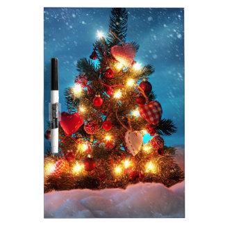 Christmas tree - Christmas decorations -Snowflakes Dry Erase Board