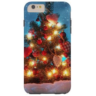 Christmas tree - Christmas decorations -Snowflakes Tough iPhone 6 Plus Case