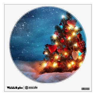 Christmas tree - Christmas decorations -Snowflakes Wall Sticker