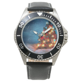 Christmas tree - Christmas decorations -Snowflakes Watch