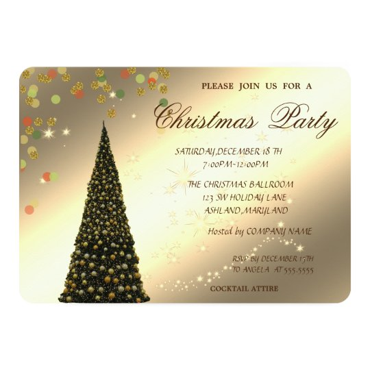 Christmas Tree,Confetti,Corporate Christmas Party, Card