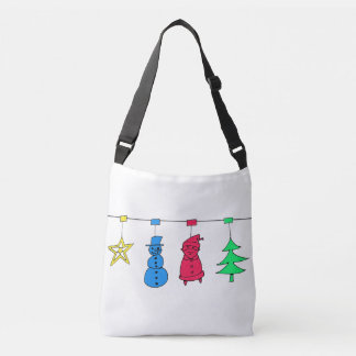 Christmas tree decorations crossbody bag
