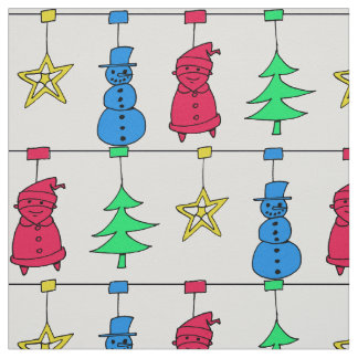 Christmas tree decorations fabric