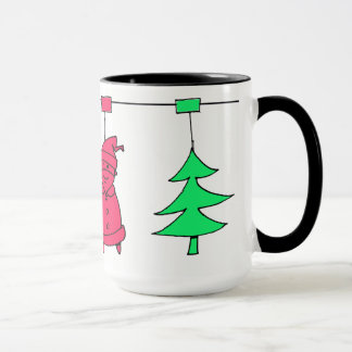 Christmas tree decorations mug