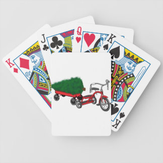 christmas tree delivery bicycle playing cards