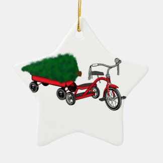 christmas tree delivery ceramic ornament
