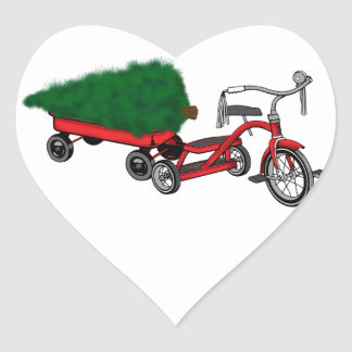 christmas tree delivery heart sticker