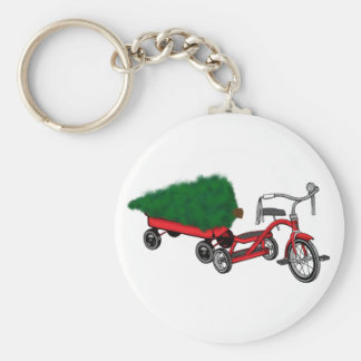 christmas tree delivery keychain