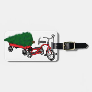 christmas tree delivery luggage tag