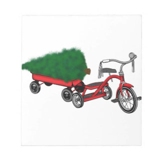 christmas tree delivery notepad
