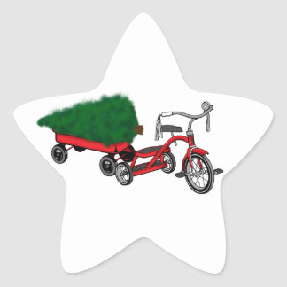 christmas tree delivery star sticker