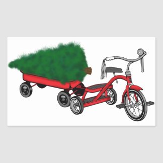christmas tree delivery sticker