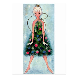 Christmas Tree Dress Postcard