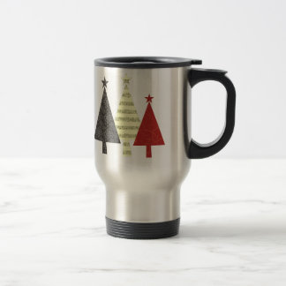 Christmas Tree Elegant Stylish Pattern Minimal Travel Mug