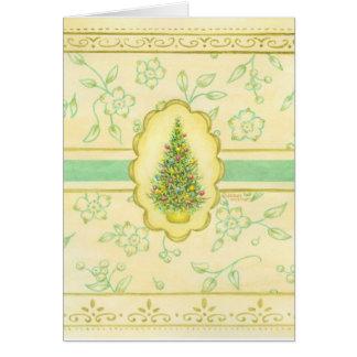 Christmas Tree Elegant Victorian Greeting Card