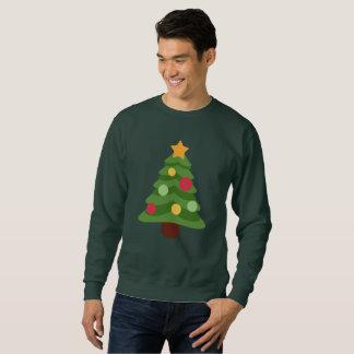 christmas tree emojis mens sweatshirt