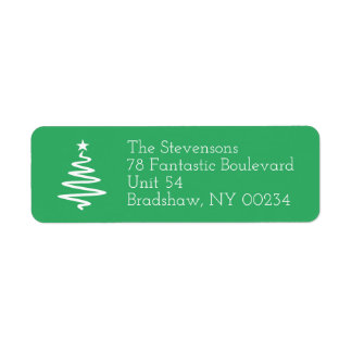 Christmas Tree Family Holiday Return Address