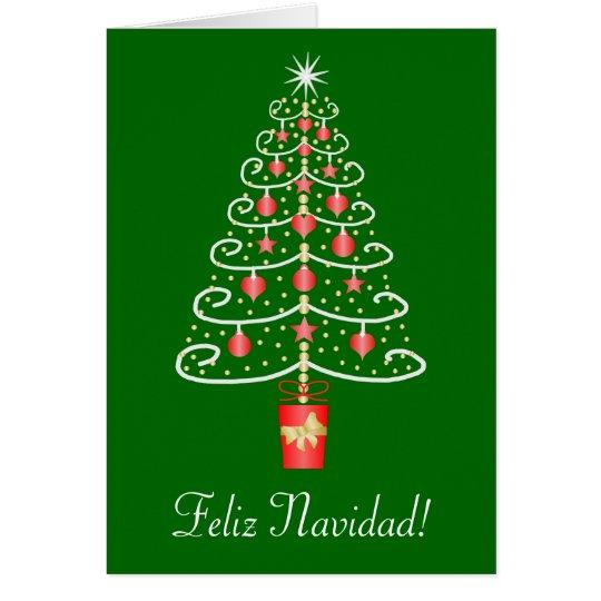 Christmas Tree Feliz Navidad Spanish Christmas Card