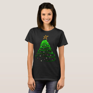 Christmas tree festive merry Xmas holly jolly T-Shirt