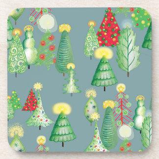 Christmas Tree Forest Coaster set