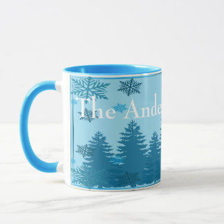 Christmas Tree Forest Personalized Mug