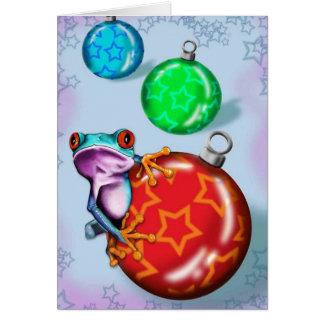 Christmas Tree Frog Card
