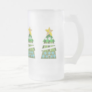 Christmas Tree Frosted Jug Frosted Glass Beer Mug