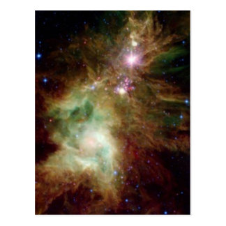 Christmas Tree Galaxy Postcard