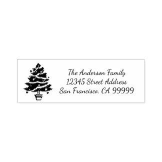Christmas Tree Garland - Self Inking Address Stamp