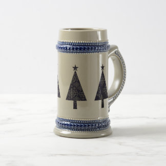 Christmas Tree Geometric Chic Lace Classy Elegant Beer Stein