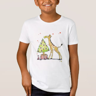 Christmas tree & giraffe - christmas festive T-Shirt