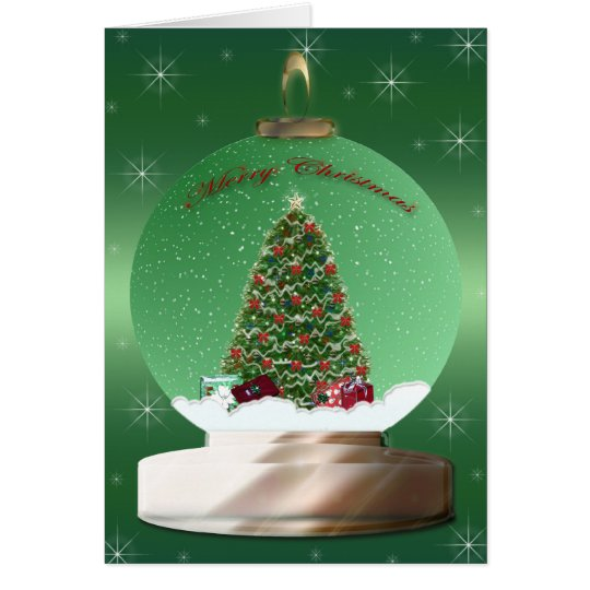 Christmas Tree Globe Card