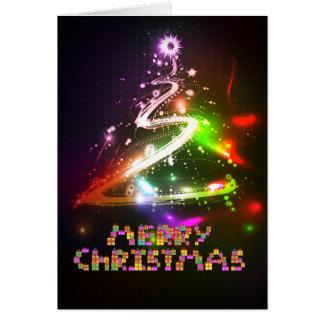 Christmas Tree Glowing Cristmas Greeting Card #13